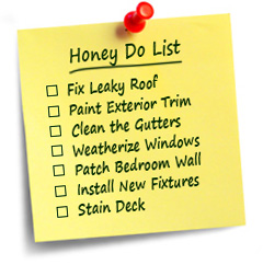 handyman honey-do list